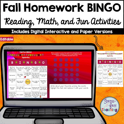 This post talks about BINGO style homework assignments for elementary school students.